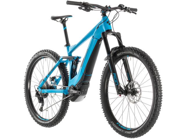 Cube Stereo Hybrid 140 Pro 500 E-MTB fullsuspension blå (2019) | City-cykler